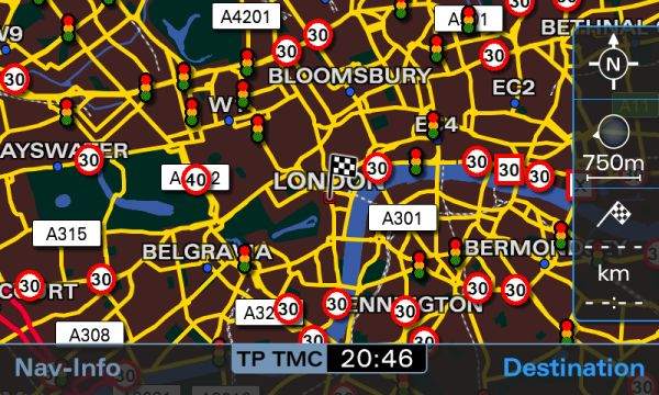 London Map With Speed And Red Light Cameras ...